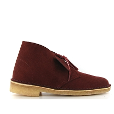 CLARKS ORIGINALS DESERT BOOT<br>Bordeaux