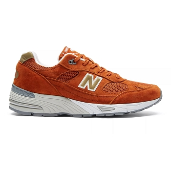 NEW BALANCE UK USA M991 BURNT ORANGE<br>Marron
