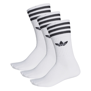 ADIDAS TEXTILE SOLID CREW SOCK S21489<br>Blanc