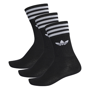 ADIDAS TEXTILE SOLID CREW SOCK S21490<br>Noir