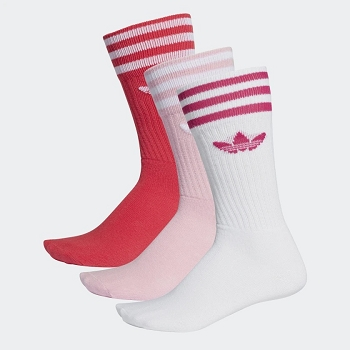 ADIDAS TEXTILE SOLID CREW SOCK DY0383<br>Rose