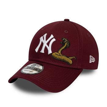 NEW ERA MENS TWINE MLB 9FORTY NEYYAN MRN OSFM 12134875<br>Bordeaux