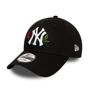 NEW ERA MENS TWINE MLB 9FORTY NEYYAN BLK OSFM 12134876<br>Noir