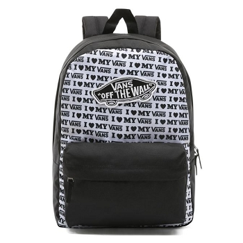 VANS TEXTILE WL REALM BACKPACK BLACK<br>Noir