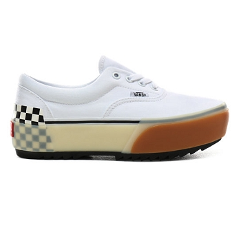 VANS ERA STACKED WHITE CHECKERBOARD<br>Blanc