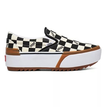 66167D  CA CLASSIC SLIP ON STACKED CHECKERBOARD VNO4TZVVLV1:Toile/Blanc
