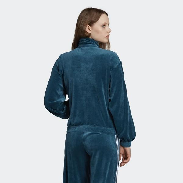 Adidas textile ed4731 velvet tracktop vert
