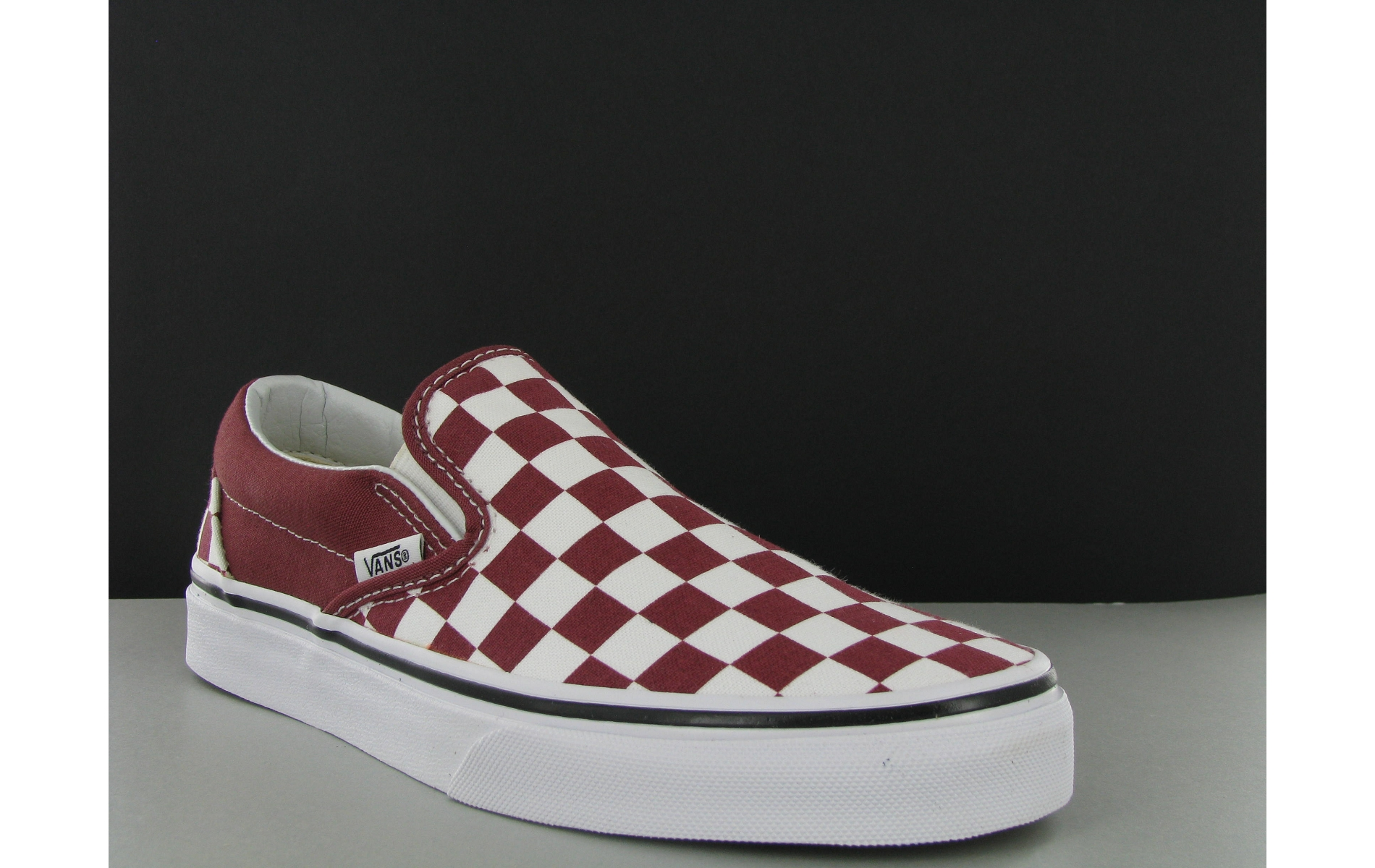 vans slip on bordeaux