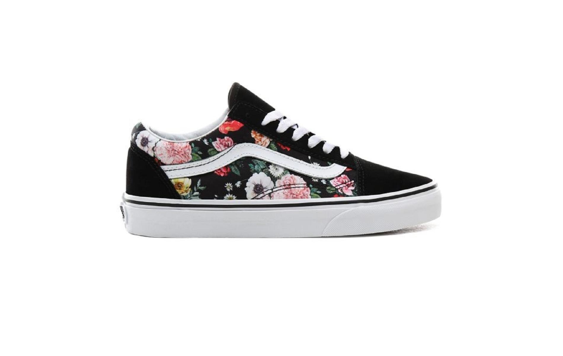 baskets vans femme fleurs