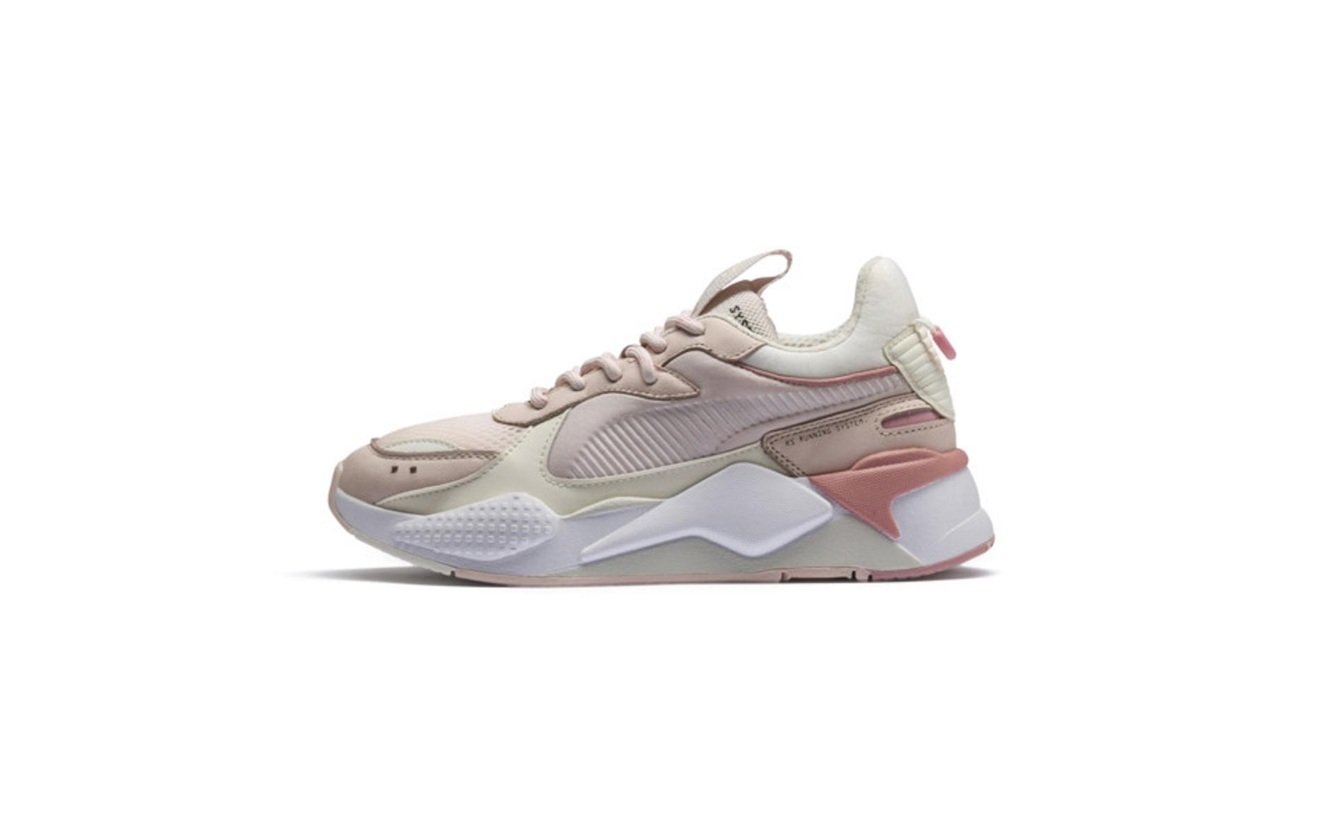 puma chaussure blanche rose rsx